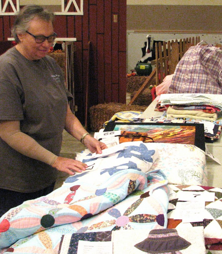 Quilts being entered at fair