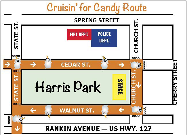 Cruisin' for Candy map